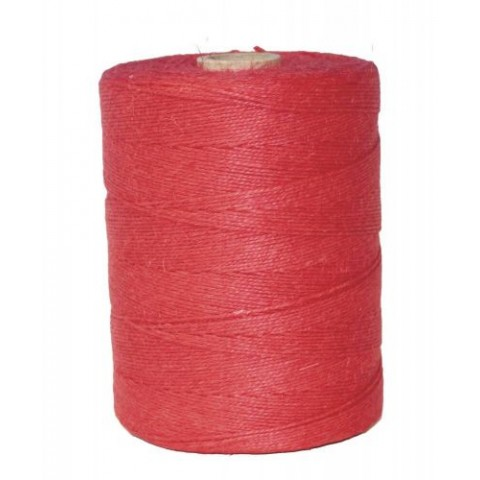 FICELLE LIN ROUGE POLIE 3,5/2 /ROLL 1KG